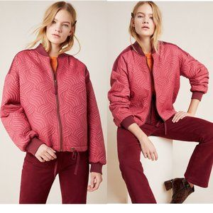 Anthropologie Vicenta Quilted Bomber Jacket